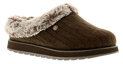 Skechers Keepsakes Ice Angel Womens Ladies Mule Slippers Brown UK Size • 33£