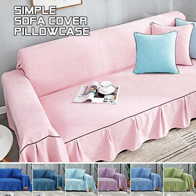 Lazy Couch Slip Cover Soft Warm Chenille Cashmere Sofa Settee Throw Cover • 27.99£