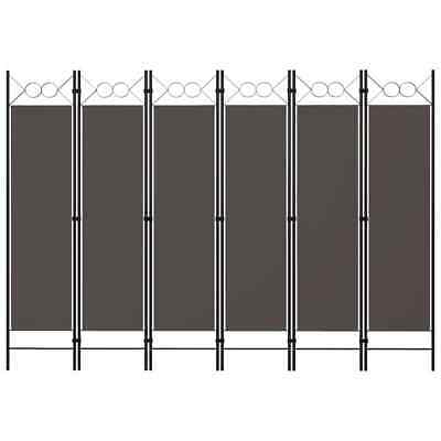 AU51.99 • Buy VidaXL 6-Panel Room Divider Anthracite 240cm Panel Privacy Screen Partition