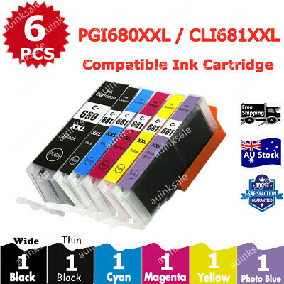 AU38 • Buy 6x Ink Cartridges PGI-680 CLI-681 XXL For Canon TS8160 TS8260 TS8360 TS9160 6360