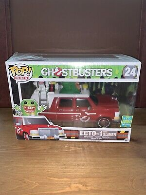Funko Pop Rides Ghostbusters Red ECTO-1 With Slimer #24 Summer Convention 2016 • 38.67£