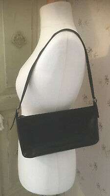 Hobbs Leather Look Small Black One Detachable Strap Shoulder Bag  • 6.99£