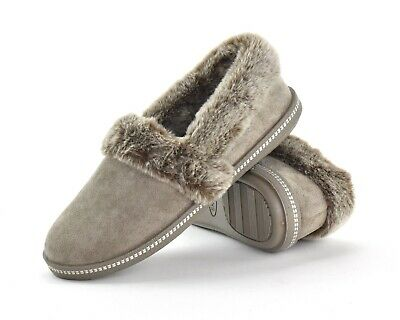 Skechers Womens Slippers Cozy Campfire-Team Toasty 3277/DKTP Faux Fur Slippers • 31£