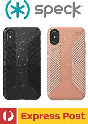 AU42.35 • Buy IPhone X / XS SPECK Presidio Grip + Glitter Slim Drop Protection ShockProof Case