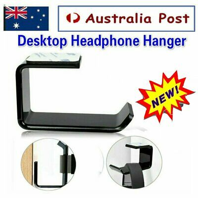 AU8.95 • Buy Headphone Stand Hanger Holder Dual Headset Tape Under Desk Hook Clever Mount QE
