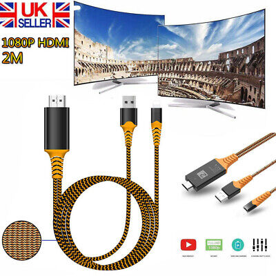 Lighting To HDMI Digital TV AV Adapter Cable For Apple IPad IPhone 11 7 8P X XS • 7.59£