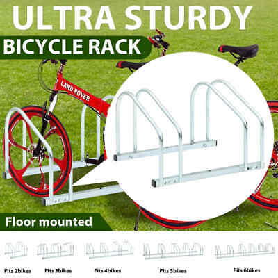AU51.99 • Buy VidaXL 2/3/4/5/6-Bike Parking Floor Rack Steel Instant Floor-mounted Stand