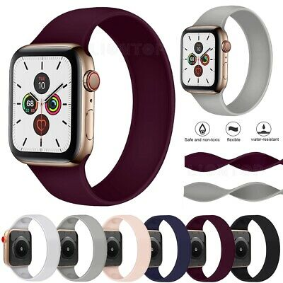 $ CDN7.85 • Buy Elastic Silicone Watch Bands For Apple Watch Series SE 6 5 4 3 2 1 38/42/40/44mm