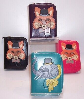 Fox Or Elephant Design PU Purse Large Or Small Various Colours • 9.99£