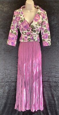 Purple Maxi Summer Dress And Jacket Size 10 Principles Wedding Special Occasion • 10£