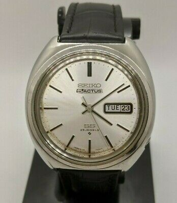 $ CDN219.99 • Buy Seiko 6106-7460 5 Actus SS Automatic 25 Jewels. JDM. Day/Date. 1970 New Crystal.