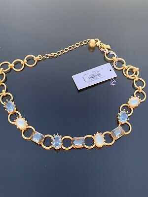 $ CDN48.27 • Buy NEW Kate Spade Blooming Bling Stone Necklace NAVY  Multi Gold White