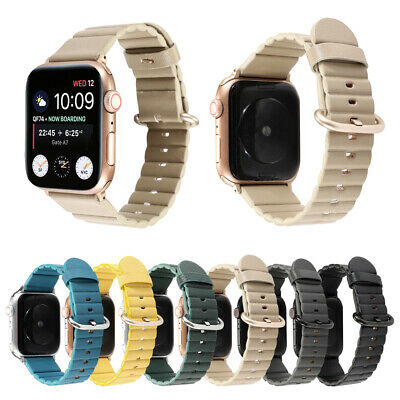 $ CDN14.25 • Buy 38/42mm 40/44mm Soft IWatch Leather Band Strap For Apple Watch Series 6 5 4 3 SE