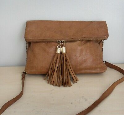 Tan Leather Shoulder / Hand Bag By Oasis • 2£