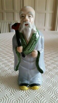 Vintage Japanese Hand Painted Figure Of Old Man Made • 10£