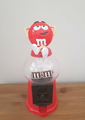 M&M's Chocolate Candy Dispenser Machine Large In Red Kids Adults Party Gift • 12.99£