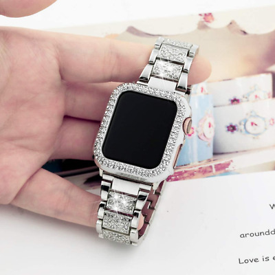 AU18.99 • Buy Women Stainless Steel Band Metal Strap + Case For Apple Watch Series 5 4 3 2 1