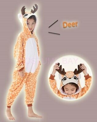 AU29.95 • Buy Kids Onesie Deer Spotty Dog Unicorn Animal Kigurumi Pajamas Unisex Sleepwear