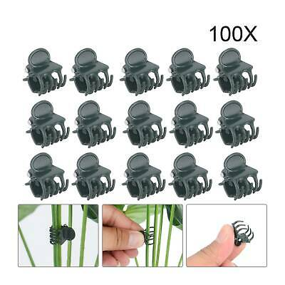 £5.79 • Buy 100Pcs Plant Fix Clips Orchid Stem Vine Support Flowers Tied Branch Clamping