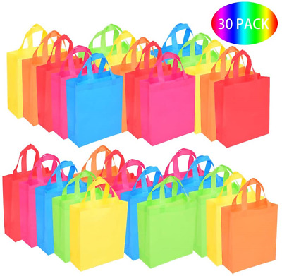 £19.87 • Buy BOENFU 30 Pcs Party Bags With Handles Non-Woven Gift Tote Bags Toy Goody Sweet