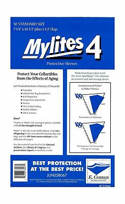 $34.94 • Buy Mylites 4 Standard Comic Book Mylar Sleeves 7 1/4  X 10 1/2  Clear 1.75 Pounds