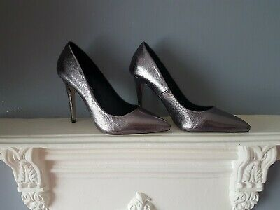 Dorothy Perkins Pewter Shoes Size 5  • 3£