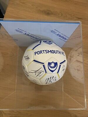 Portsmouth FC // Pompey - Football Signed By First Team // In Display Case • 30£