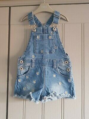 Girls Daisy Short Dungarees From Very 12-18 Months ❤ • 0.99£