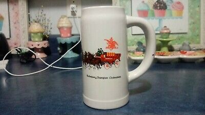 $ CDN13.20 • Buy 1976 Budweiser Champion Clydesdales Cs12 Off White Small Wagon Beer Stein  Rare