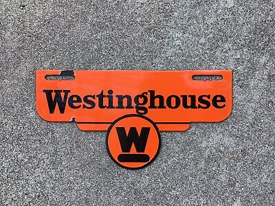 $ CDN173.28 • Buy Westinghouse - Porcelain - License Plate Topper