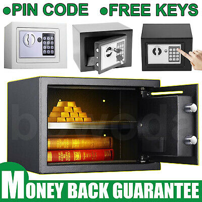 Electronic Password Mini Safe Money Cash Deposit Box Office Home In-wall 3 Color • 40.50£