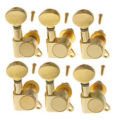 AU23.99 • Buy Gold Guitar String Tuning Pegs Tuners Machine Heads Set(6R)