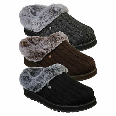 Skechers Womens Bobs Keepsake Ice Angel Slippers Soft Memory Foam Comfort Clogs  • 44.98£
