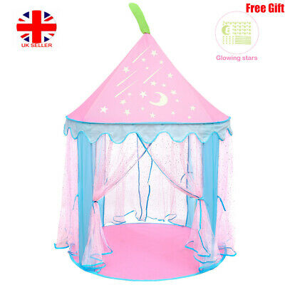 IBaseToy Princess Prince Castle Foldable Playhouse Children Kid Indoor Play Tent • 16.89£