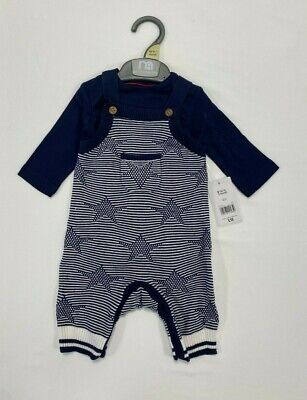 £7.50 • Buy BNWT Mothercare Baby Boys Stars Knitted Dungarees Bodysuit Romper Outfit Rrp £18