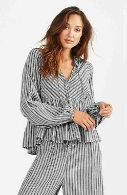 AU60 • Buy Tigerlily Zara Long Sleeve Striped Top. Nwt- Size 12- Rrp $139