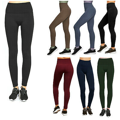 £5.50 • Buy Womens Fleece Lined Tummy Control High Waist Thick Winter Warm Brushed Leggings
