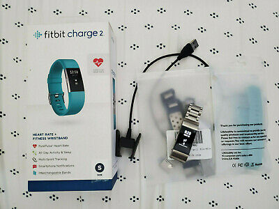 $ CDN22.01 • Buy Fitbit Charge 2 FB407STES Fitness Tracker - Small, Teal With Four Bands⁹
