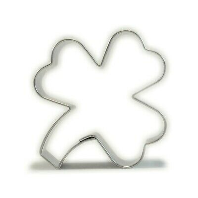 3 LEAFS CLOVER STAINLESS Cookies Cutter Biscuit Cake Shamrock Irish Patrick A45 • 2.49£