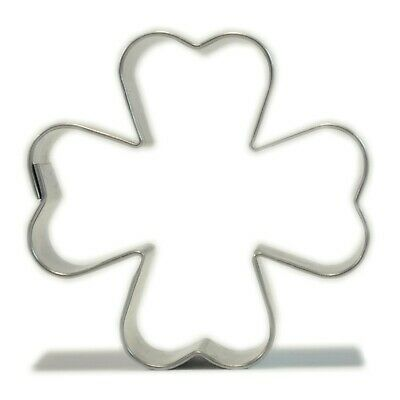 £2.99 • Buy 4 LEAFS CLOVER STAINLESS Cookies Cutter Biscuit Cake Shamrock Irish Patrick B10