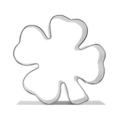 4 LEAFS CLOVER STAINLESS Cookies Cutter Biscuit Cake Shamrock Irish Patrick A27 • 2.49£