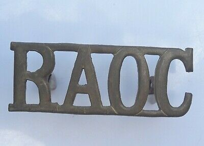 Genuine Raoc Royal Army Ordnance Corps  Brass Shoulder Title • 4£