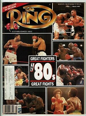 $3 • Buy The Ring Magazine-March 1990-The 80's Great Fighters Cover-Good