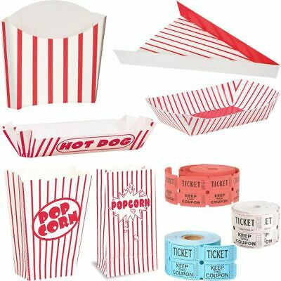 Popcorn Boxes Bags Hot Dog French Fries Kino Hollywood Party Birthday Kids • 2.44£