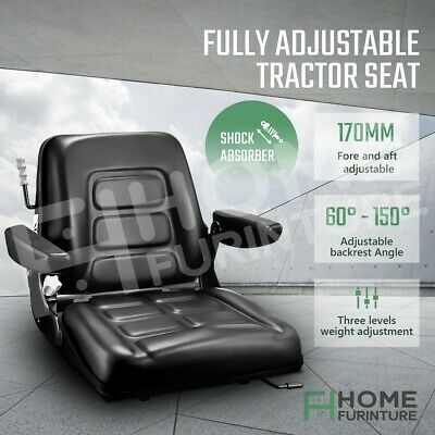 AU179.50 • Buy Tractor Seat Forklift Excavator Truck Seat Backrest Suspension Chair PU Leather
