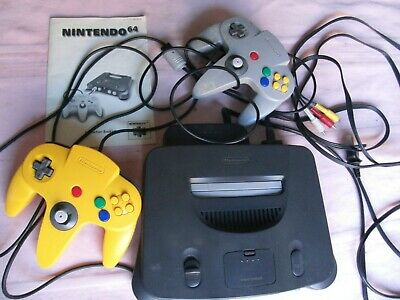 AU200 • Buy Nintendo 64 Game Console Complete 2 Controls And Book