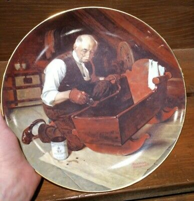 """$ CDN31.79 • Buy Norman Rockwell """"Grandpa's Gift"""" Collector Plate 1987 Edwin M Knowles China Co"""