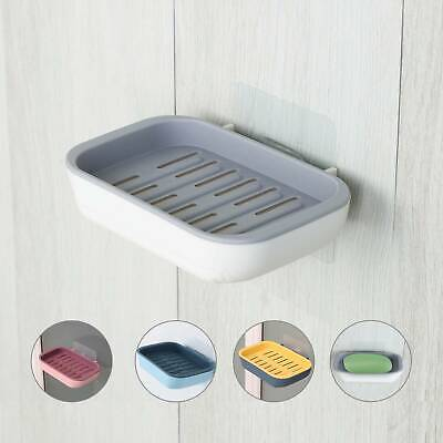 2 Layers Suction Soap Dish Strong Stick Easy Clean Tray Holder Shower Accessory • 4.49£
