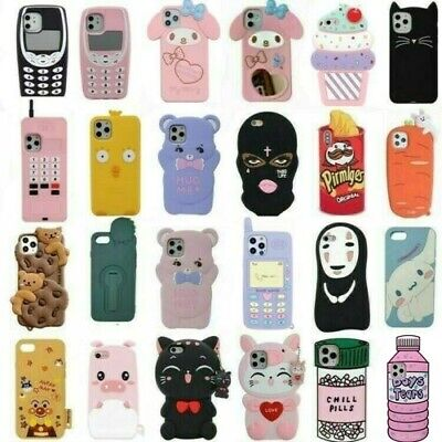 AU4.67 • Buy Cute 3D Cartoon Soft Silicone Case Cover For IPhone 12 11 Pro 7 8 Plus XR XS MAX