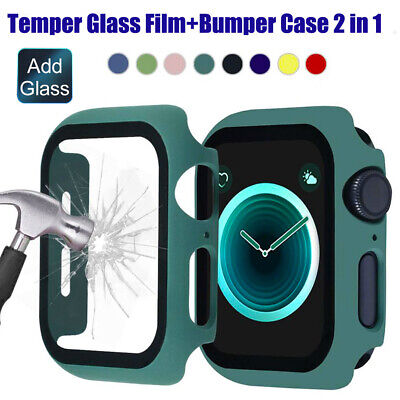$ CDN4.74 • Buy For Apple Watch Series 6 SE 5 4 3 Temper Glass Screen Film Case Bumper PC Cover